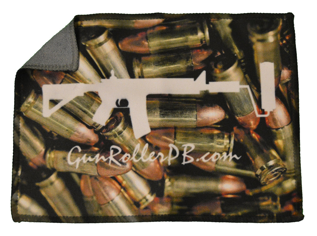 2 Sided Pocket Microfiber Cloth - Bullets
