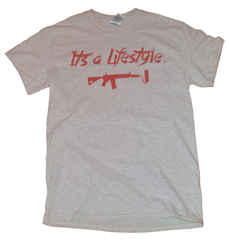 Its a Lifestyle - Light Grey/Red