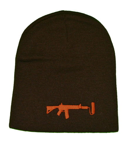Brown V2 Beanie - Orange