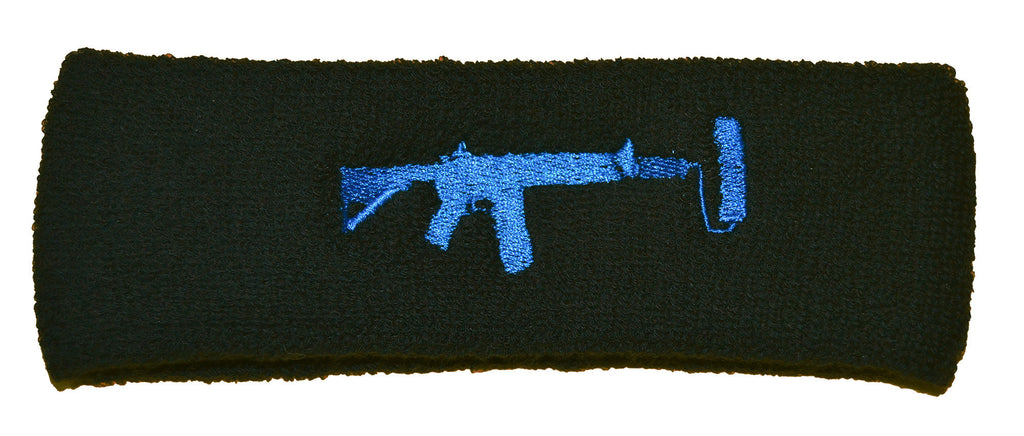 Sweatband - Black/Blue