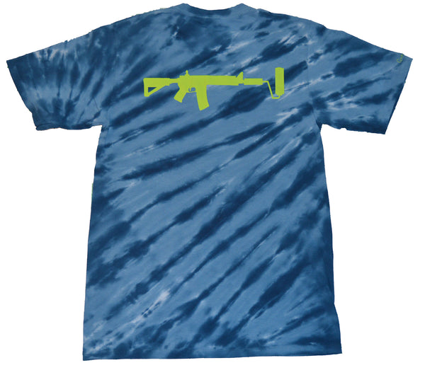 Alien Spaced Out Tie Dye - Royal/Lime