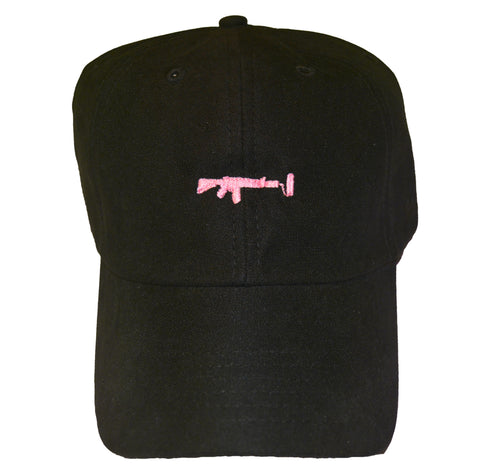 Black Dad Hat - Pink