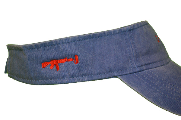 Visor - Denim/Red