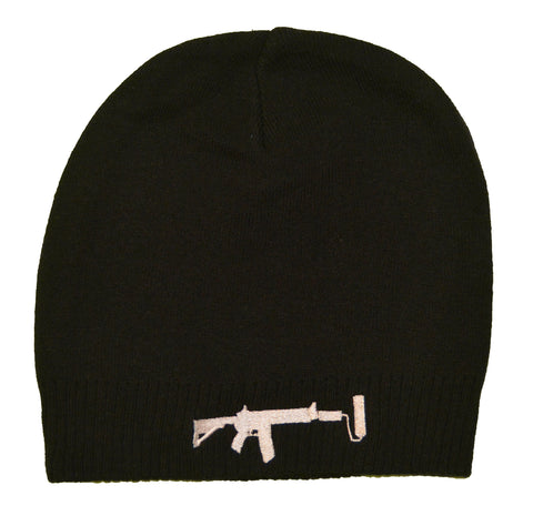 Lightweight Beanie - Black/White