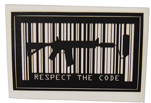 1 pc Respect The Code Sticker