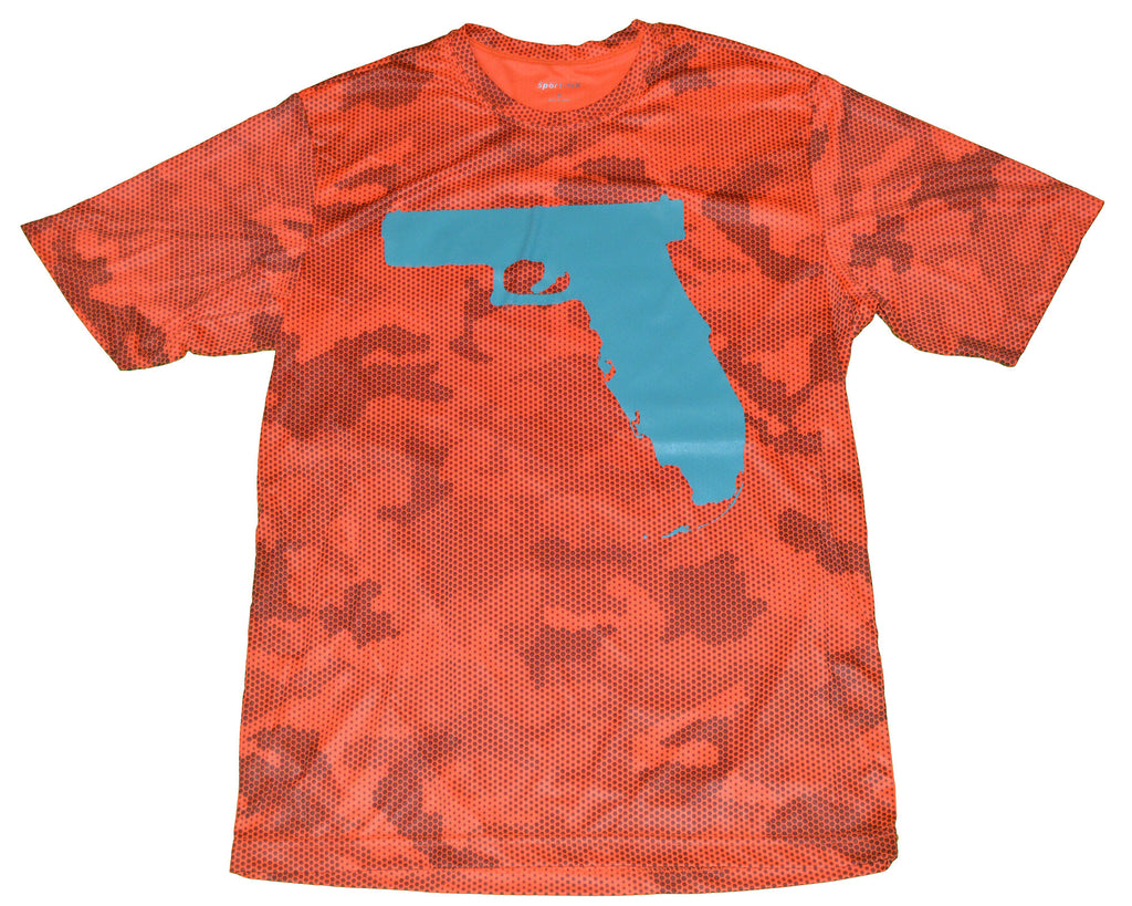 Florida Gun - Neon Orange Camo Hex/Teal