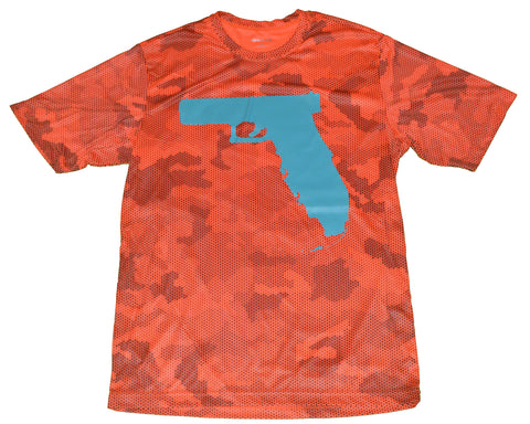 Florida Gun - Neon Orange Camo Hex