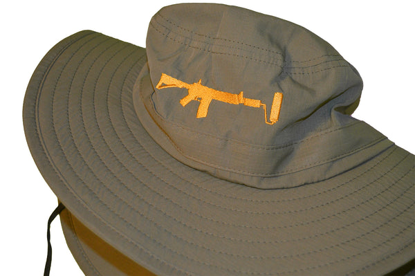 Bucket Hat - Olive/Gold UPF 30+