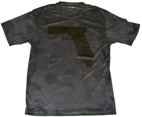 Florida Gun - Black Camo Hex/Black