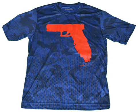Florida Gun - Blue Camo Hex/Red