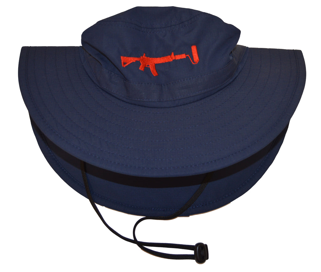 Bucket Hat - Navy/Red UPF 30+