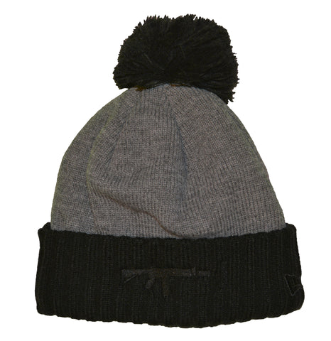 New Era Beanie Puff Grey - Black