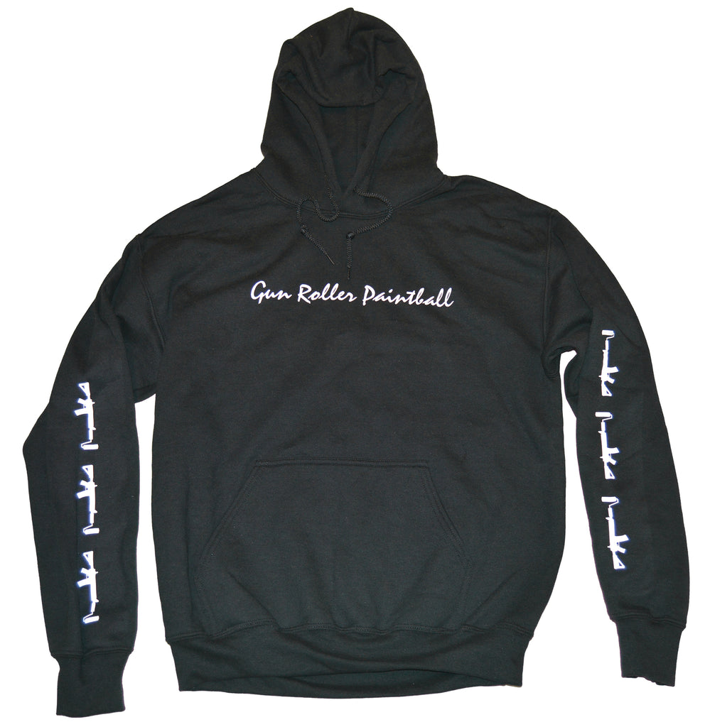Pullover Hoodie - Black/White