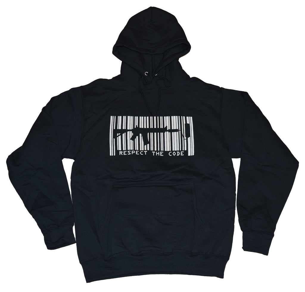 Respect The Code Pullover Hoodie - Black/White