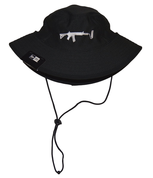 New Era Bucket Hat - Black/White