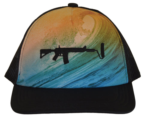 Big Wave Mesh Hat - Black