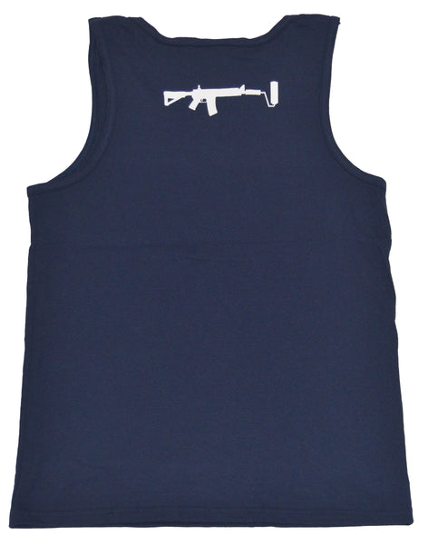 Rescpect the Code Tank top - Navy/White