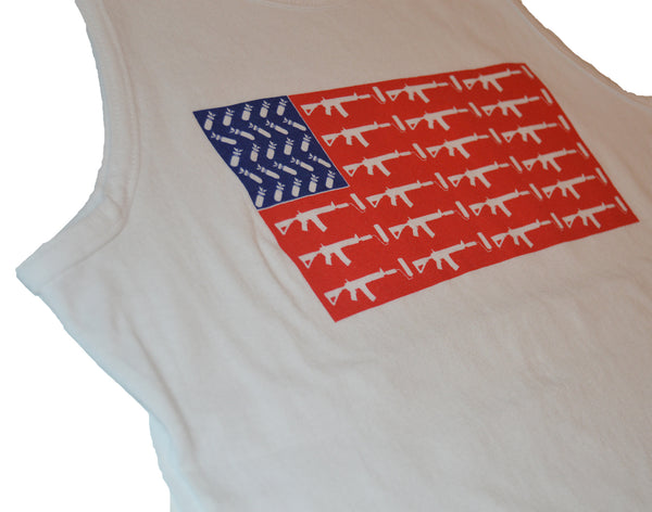 USA Flag Tank top - White/Red/Blue