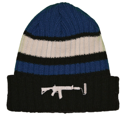 New Era Beanie Stripe Blue - White