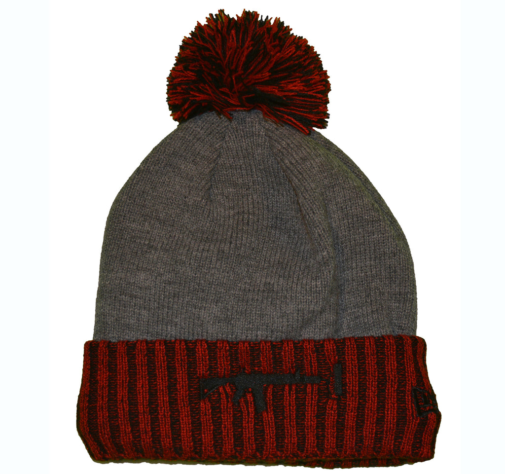 New Era Beanie Puff Red - Black