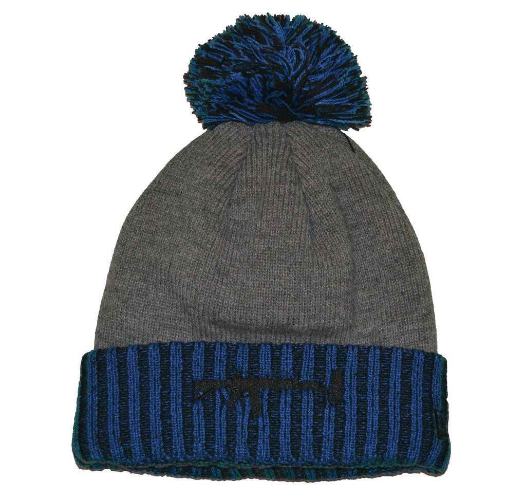 New Era Beanie Puff Blue - Black