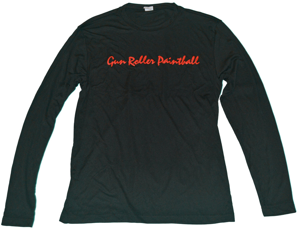 Gun Roller Paintball Performance Longsleeve - Black/Red