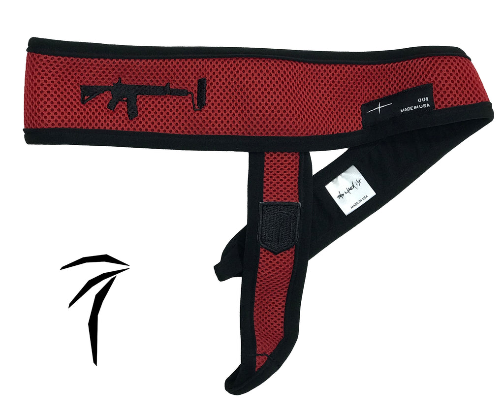Tress Inc Red Space Band Headband - Black