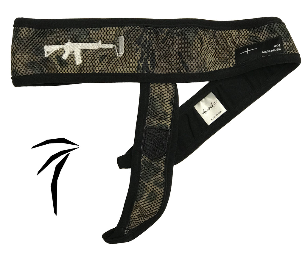 Tress Inc Camo Space Band Headband - Black