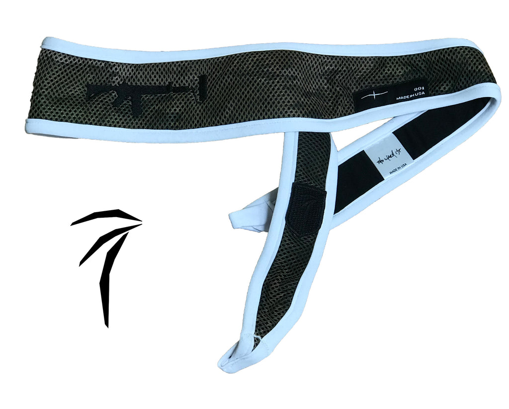 Tress Inc Camo Space Band Headband - White