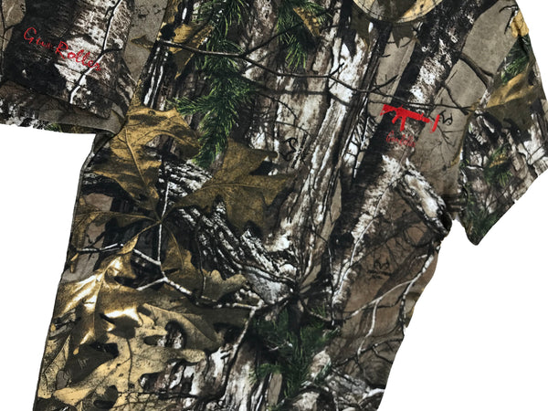Realtree shortsleeve - Red Small