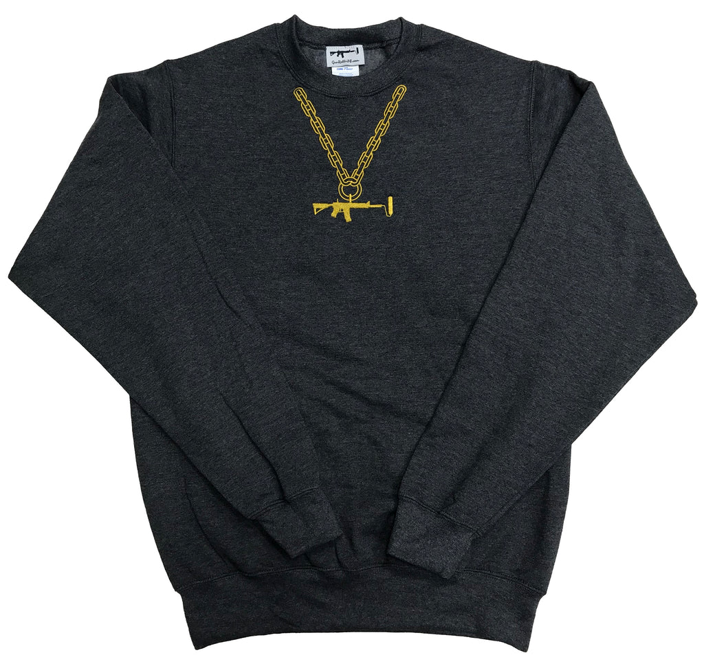 Sweatshirt - Charcoal/Gold Chain Large