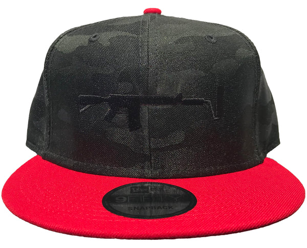 New Era Camo Snapback - Black/Red