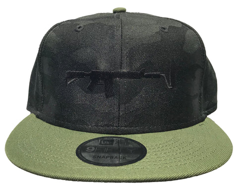 New Era Camo Snapback - Black/Olive