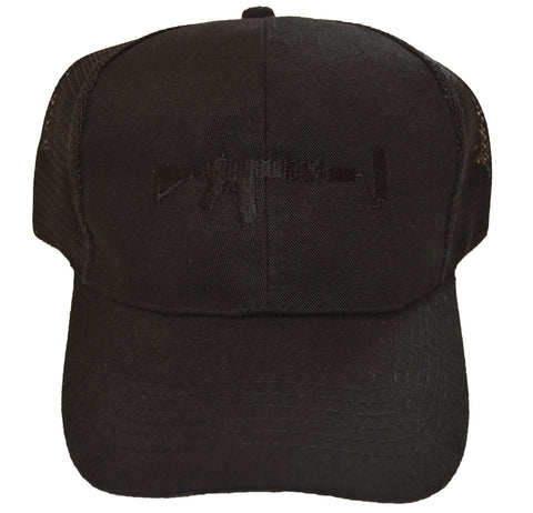 Mesh Trucker Hat - Black/Black
