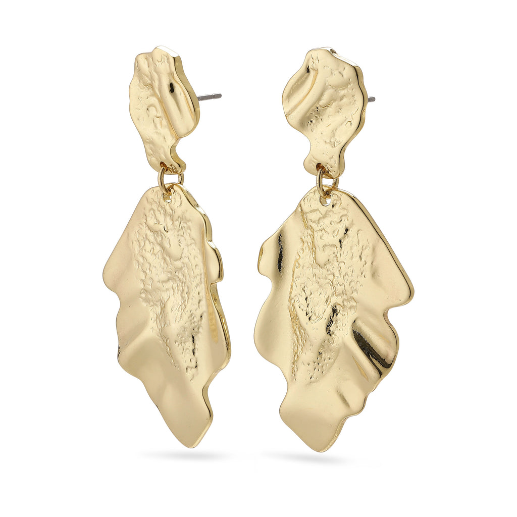 Pilgrim Valkyria Gold Statement Earrings