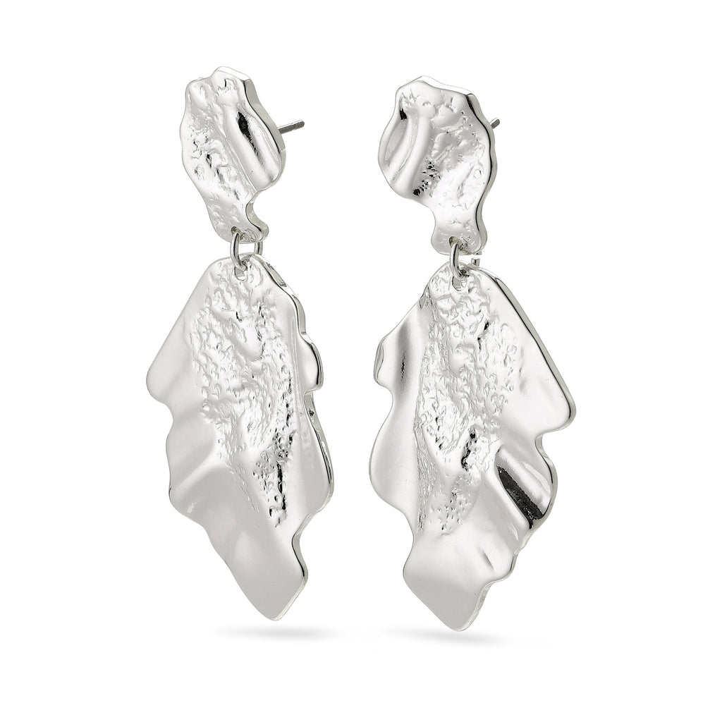 Pilgrim Valkyria Silver Statement Earrings