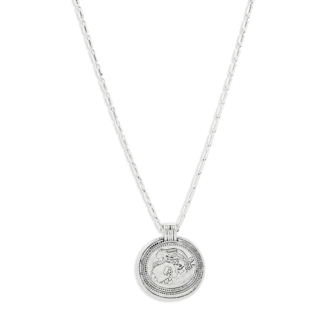 Pilgrim Rán Silver Coin Necklace