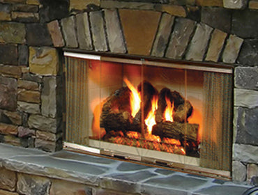 Multi Sided Wood Fireplace Click Fire Inc