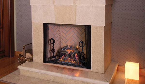 Rapture B-Vent Fireplace - Traditional - Front Open
