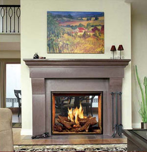 Town and Country TC36 See-Thru Fireplace - Click Fire Inc.