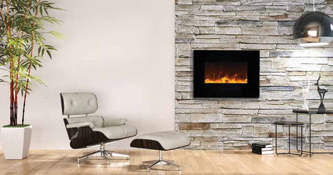 "26"" Flush Mount Electric Fireplace - Click Fire Inc."