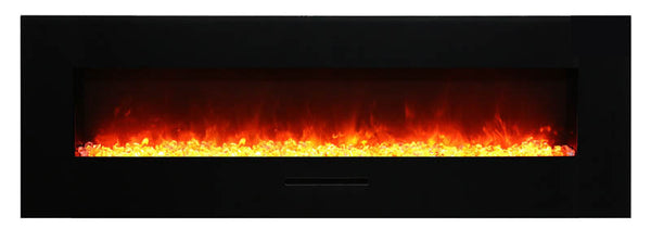 "60"" Flush Mount Electric Fireplace"