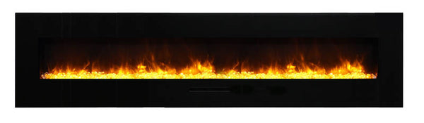 "88"" Flush Mount Electric Fireplace - Click Fire Inc."