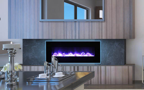 "48"" Flush Mount Electric Fireplace - Click Fire Inc."