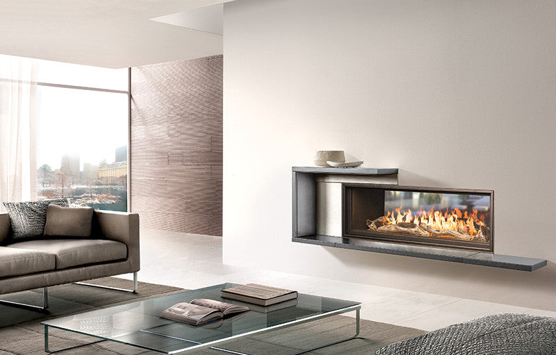 Town and Country WS54 See-Thru Widescreen Fireplace - Click Fire Inc.