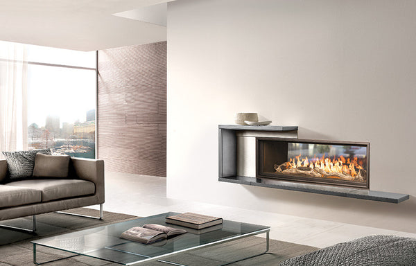 Town and Country WS54 Indoor Outdoor See-Thru Widescreen Fireplace