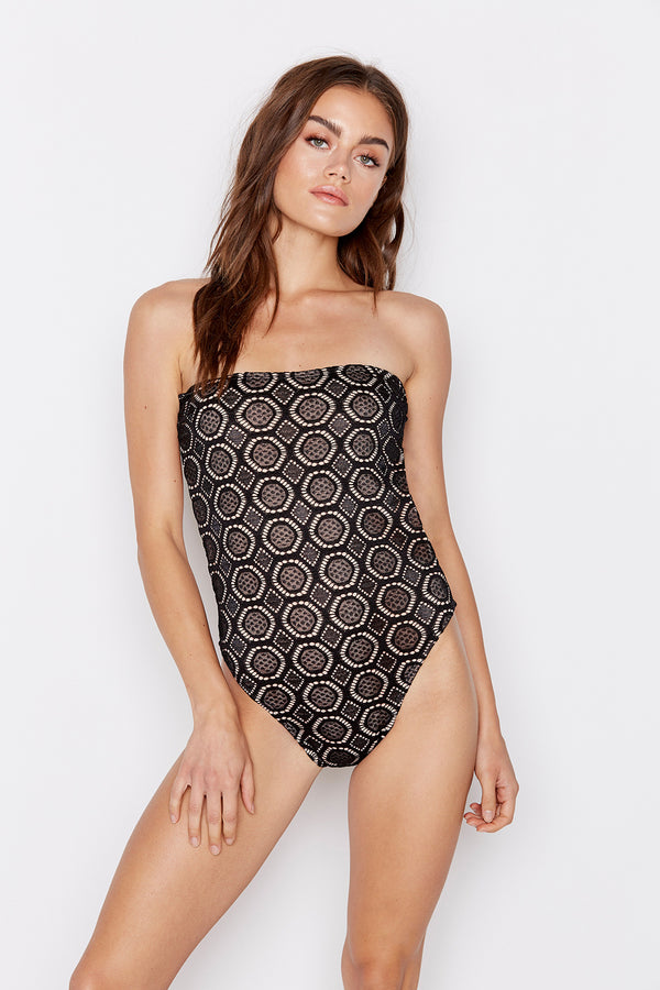 CHANCE ONE-PIECE - BELLA NOIR - Ris-k Swimwear