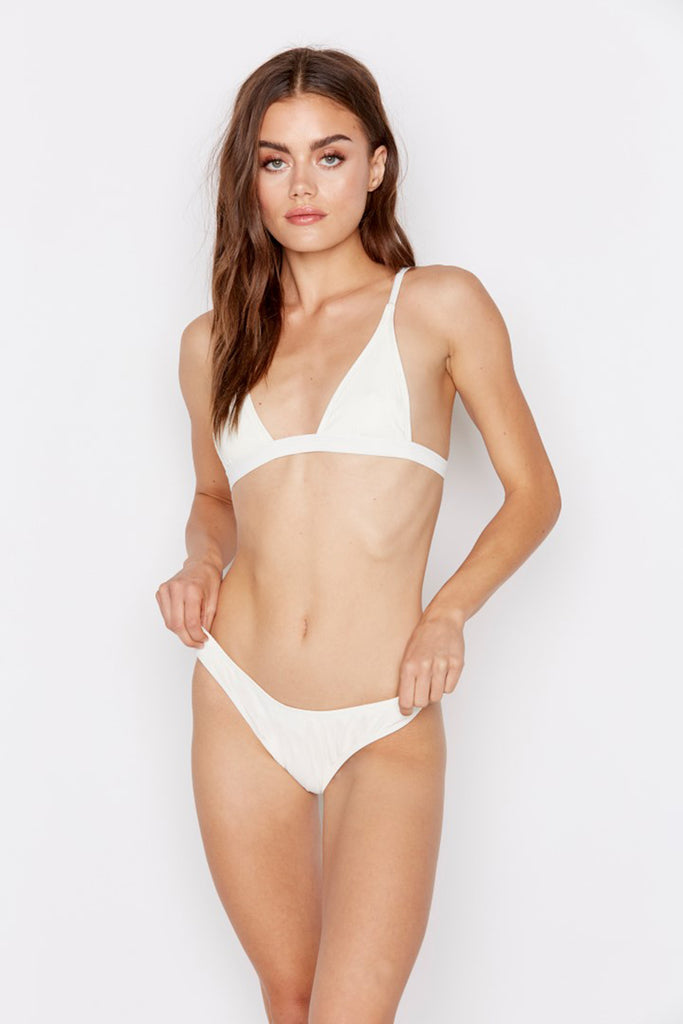NOSTALGIA BIKINI BOTTOM - CLOUD RIBBED - Ris-k Swimwear