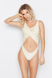FLUX ONE-PIECE - SHIMMER JET - Ris-k Swimwear