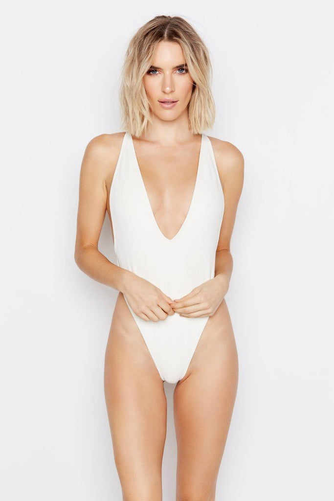 PARADISE ONE-PIECE - CLOUD RIBBED - Ris-k Swimwear